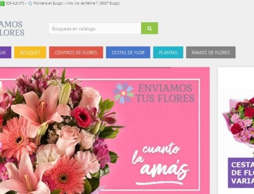 Remodelación Diseño Web enviamostusflores.es